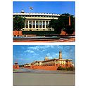 Parliament House and Secretariate Building, New Delhi, India - Set of 2 Postcards