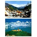 Manali, India and Kathmandu, Nepal - Set of 2 Postcards