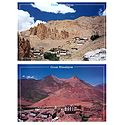 Dhankar Gompa and Kibber Valley, Spiti, India - Set of 2 Postcards