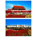 Tian Anmen Gate Tower and National Museum, China - Set of 2 Postcards
