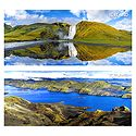 Skogafoss Waterfall & Langisjor Lake, Iceland - Set of 2 Postcards