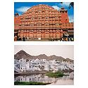 Hawa Mahal and Pushkar in Rajasthan - Set of 2 Postcards