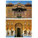 City Palace in Udaipur & Shekhawati in Rajasthan - Set of 2 Postcards