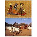 Rajasthani Women & Village - Set of 2 Postcards