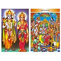 Rama, Sita and Ram Darbar - Set of 2 Postcards