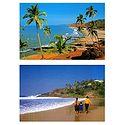 Goa and Kovalam Beach - Set of 2 Postcards