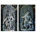 Temple Wall Carvings, Belur, Karnataka, india - Set of 2 Postcards