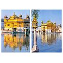 Golden Temple at Amritsar - Set of 2 Postcards