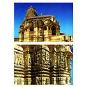 Kumbha Shyam Temple and Wall Friezes in Temple, Chittorgarh - Set of 2 Postcards