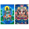 Green Tara and Chenrezie - Set of 2