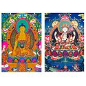 Sakyemune Buddha and Chenrezie - Set of 2 Postcards