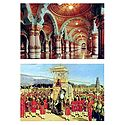 Mysore Palace and Dussehra Procession - Set of 2 Postcards