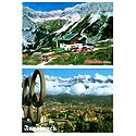 Pfeishutte and Innsbruck, Austria - Set of 2 Postcards