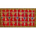 Red Art Silk Matarani Chunni with Sequin and Golden Zari
