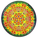 Kalash Print on Sticker Rangoli