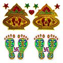 2 Pairs of Kalash and Charan Sticker