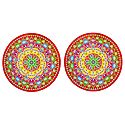 Set of 2 Rangoli Stickers