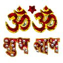 Om and Shubh Labh Glitter Sticker