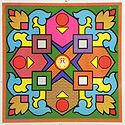 Geometrical Print on Paper Sticker