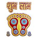Charan, Diya and Shubh Labh on Card Paper Sticker