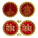 Kalash, Diya and Riddhi Siddhi - Auspicious Hindu Symbols