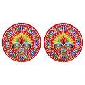 Pair of Rangoli Stickers with Diya Design