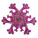 Magenta Acrylic Sticker Rangoli