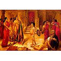 Mohini Asking Rukmangada to Kill His Own Son - Ravi Varma Reprint