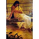 Malayali Lady Sitting on the Bridge