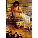 Malayali Lady Sitting on the Bridge