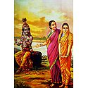 Radha Being Introduced to Krishna - Ravi Varma Reprint