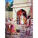 Sri Rama Breaking the Bow to Win Sita as Wife