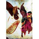 Jatayu Vadham - Sita Horrified Seeing Ravana Cutting Jatayu's Wing
