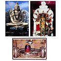 Shiva,Mahakaleshwar Jyotirlinga and Durga - Set of 3 Posters