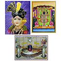 Swaminarayan,Mahakaleshwar Jyotirlinga and Balaji - Set of 3 Posters