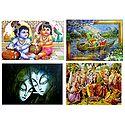 Radha Krishna, Krishna Balaram - Set of 4 Posters