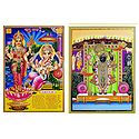 Lakshmi, Ganesha and Sreenathji - Set of 2 Posters
