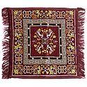Maroon Velvet Ritual Carpet Mat