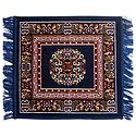 Blue Velvet Ritual Carpet Mat