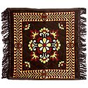 Dark Brown Velvet Ritual Carpet Asan