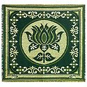 Reversible Lotus Design Cotton Ritual Mat