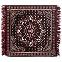 Reversible Maroon Cotton Ritual Mat