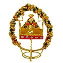 Metal Carving Jhula with Bal Gopal