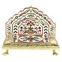 Meenakari Flower Design Throne for Deity