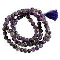 Buddhist Prayer Mala with Amethyst Stone Beads