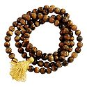 Buddhist Prayer Mala with Tiger Eye Stone Beads