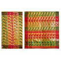 Light Saffron Dhakai Jamdani Saree with Border and Pallu