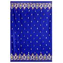Kantha Stitch on Royal Blue Pure Silk Saree with Gorgeous Border and Pallu