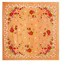 Multicolor Print on Dark Peach Synthetic Head Scarf