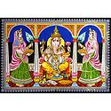 Ganesha with Riddhi and Siddhi